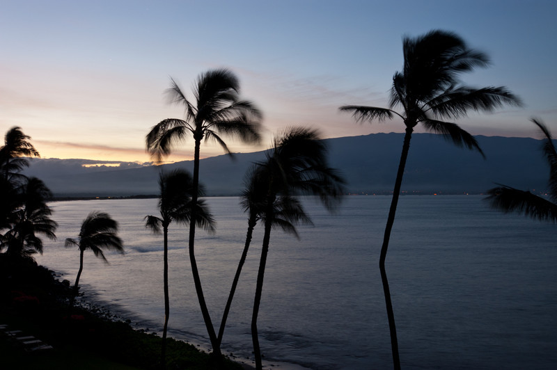 Waterfront, Ma'alaea (Haleakala in background)