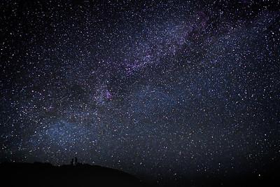 Haleakala under the Milky Way