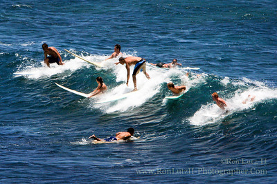 Surfing at Hookipa Park