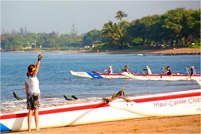 Morning ritual for the Maui Canoe club in Kihei.