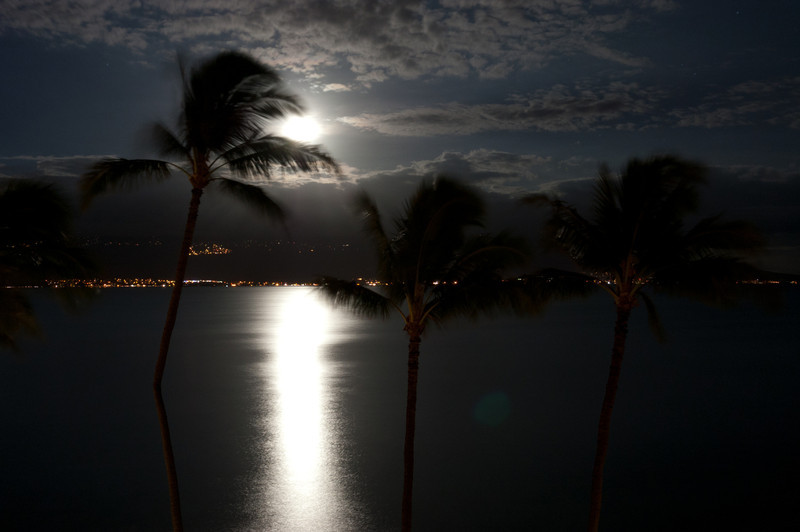 Moonrise over Haleakala from Ma'alaea