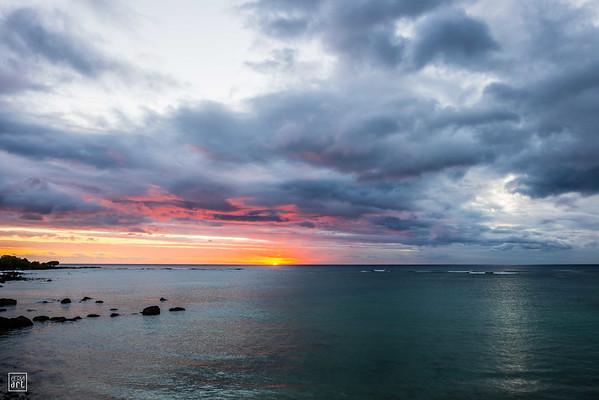 Pointe aux Sables | Winter sunset