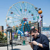 Rockin the Warriors on PSP... in front of the the Wonder Wheel. It was especially good there.