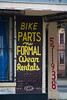 Bike Parts & Formal Wear - What a great combination and can only be found in Downtown New Orelans