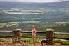 Cindy atop Mt  Magazine Arkansas's Highest Peak