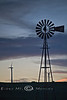 Two Era's, Same Design - Wind Farm with a traditional Windmill in the foreground - Colorado