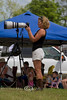 Checking the Shot - Cindy looking at the images at the Chuck Wagon Races in Arkansas