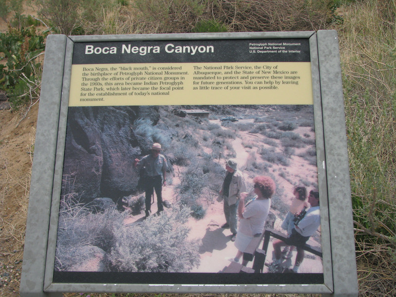Information on Boca Negra Canyon