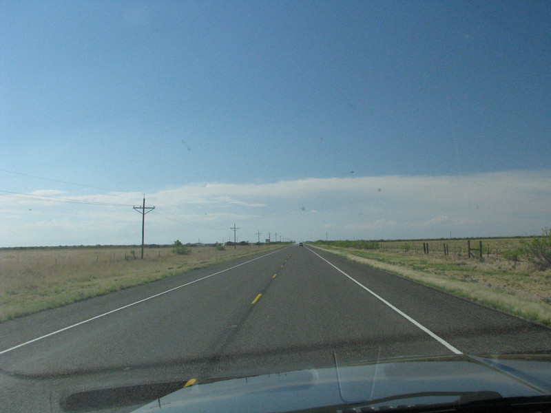 What you see is a straight as a arrow road all the way to New Mexico.