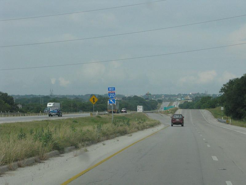 Back on the I-20 eastbound.