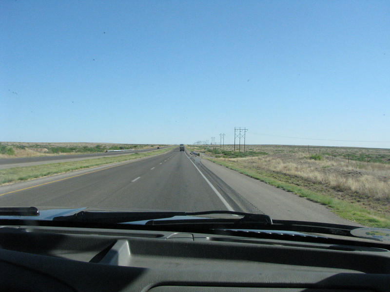 Once again out on the open road, going to Roswell.