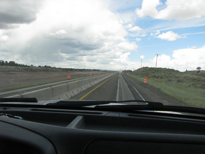 More of I-40 road works in New Mexico passed Grants.