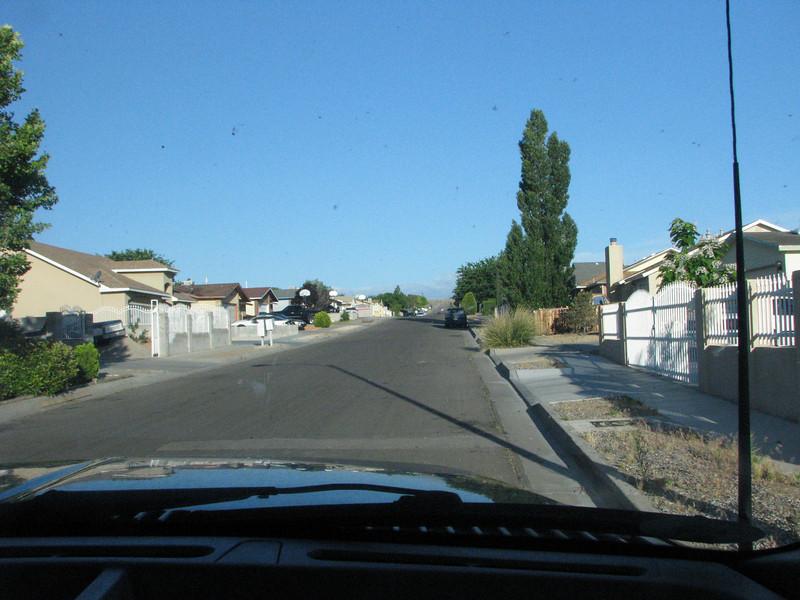Leaving the neighborhood.
