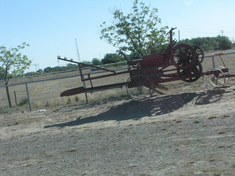 Another piece of farm equipment,this one looks as if it was horse drawn.