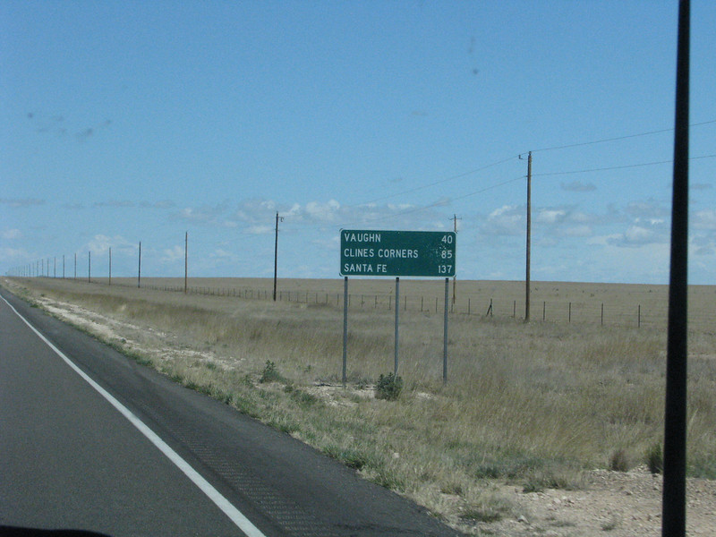 Clines Corners, only 85 miles away of open road.