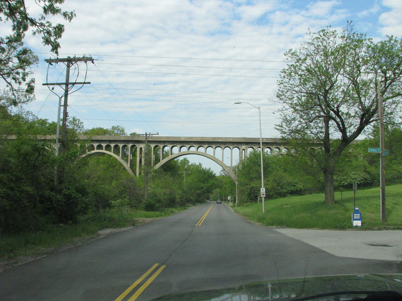 Once in Kanas City a seconary road is taken that passes under this old bridge (1926)