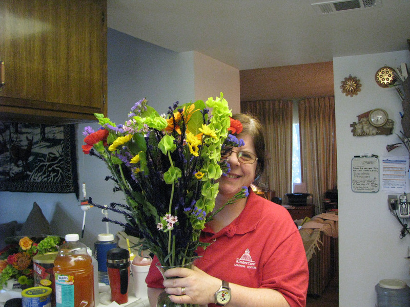 A bunch of flowers for my wife, since I'll be on the road and cross the country on Mother's Day. She will join me on May 13,2009 in Louisville,KY.