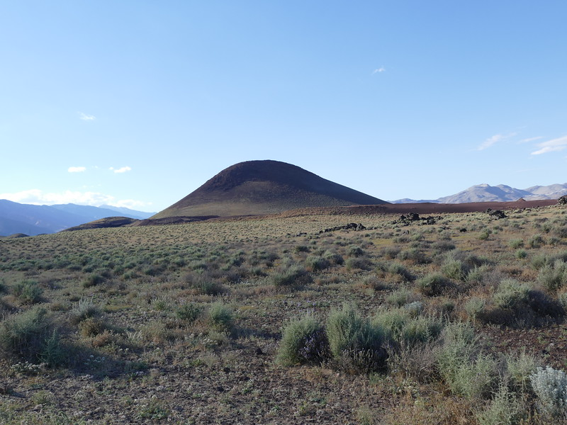 We had great luck along Cinder road near Fossil Falls.  This cinder cone (Red Mountain on Google Maps) was a striking landmark.