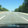 Now in Maine...straight roads for miles.