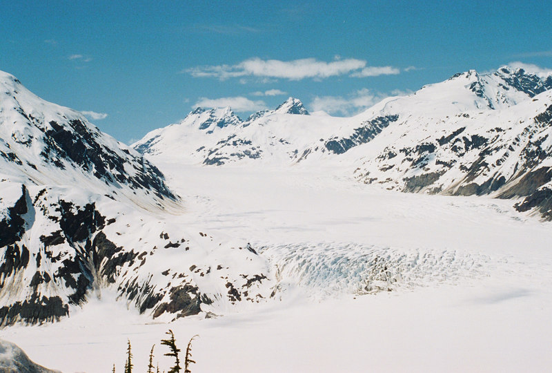 Another view of Salmon Glacier. From the road block area.