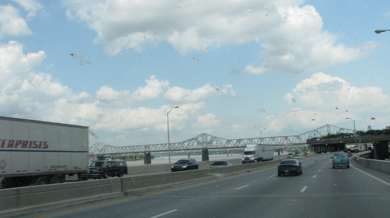 There are a lot of bridges connecting to Louisville spanning the Ohio River.