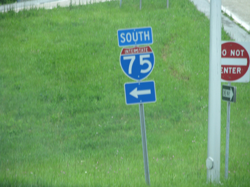 Continuing south on the I-75.