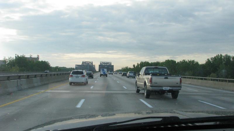 Heading towards St.Louis on the I-70 east. Missour River bridges dead ahead.