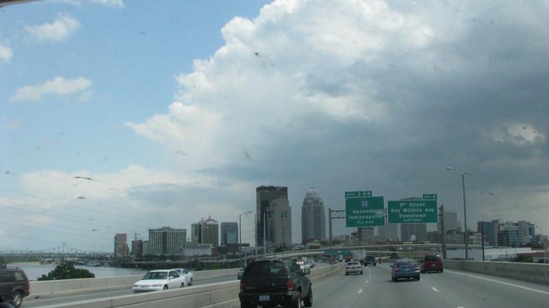 Louisville, KY. straight ahead.