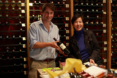 A young and knowledgeable wine store manager selected a bottle for us - St-Germain-des-Prés, Paris, Sunday May 6, 2007