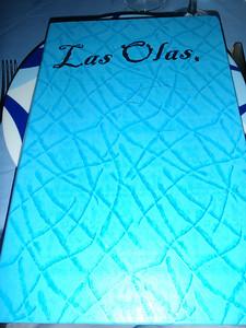Menu at Las Olas