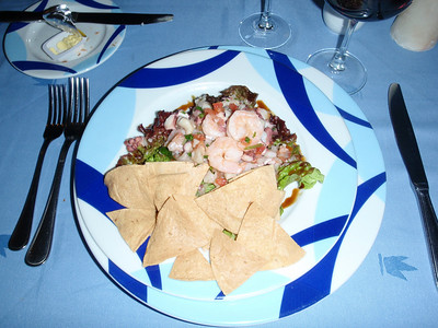 Mixed Ceviche marinated in lemon with a touch of coriander