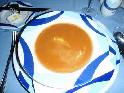 Shrimp Bisque with Avocado Mousse