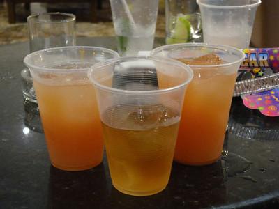 Rum and Grapefruit Juice, Jim Beam on the Rocks
