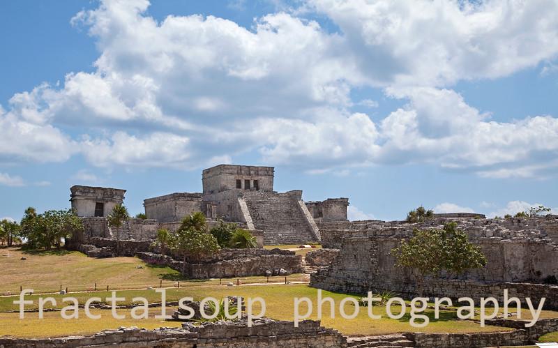 Mayan Ruin Buildings at Tulum Mexico