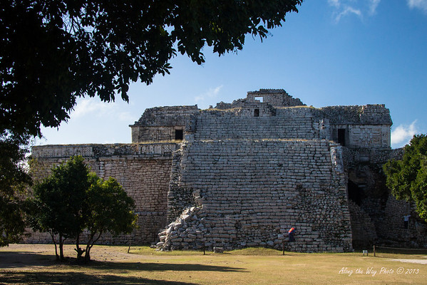 Yucatan-9696<br /> The complex of the Nuns is the largest complex in Chichen Itza. Due to the number of rooms in the complex it was compared to a convent and so in the 16th Century got ii's name. It has three main structures, the Nuns, the East Annex and the Southeast Annex.