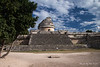 Yucatan-9597<br /> The observatory, in Chichen Itza, is believed to have been used to make astronomical observations. Including the base it is 73 feet high, with the base being 219 feet by 170 feet.