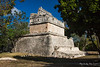 Yucatan-9695<br /> The House of the Deer, in Chichen Itza, has plain walls and simple moldings. It is called House of the Deer because of a painting of a deer on it, which has since been lost.