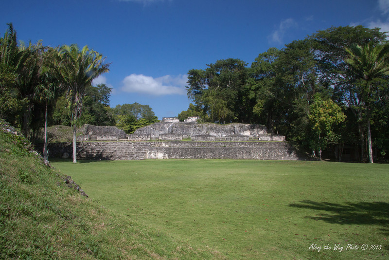 "Belize-17-2<br /> Ruins in Xunantunih.  Xunantunich served as a civic ceremonial center to the people in the Belize valley area. Xunantunich is a modern name, given the site after reports, starting in 1892, of the ghost of a woman, with glowing red eyes walking up the stairs of the temple. Xunantunich is Mayan for ""Stone Woman""."