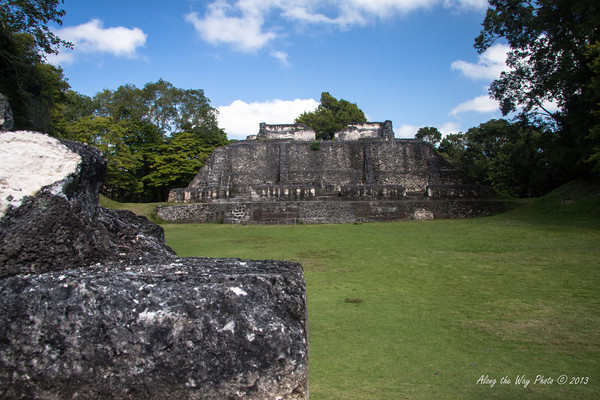 """Belize-10-2<br /> Ruins in Xunantunih.  Xunantunich served as a civic ceremonial center to the people in the Belize valley area. Xunantunich is a modern name, given the site after reports, starting in 1892, of the ghost of a woman, with glowing red eyes walking up the stairs of the temple. Xunantunich is Mayan for """"Stone Woman""""."""