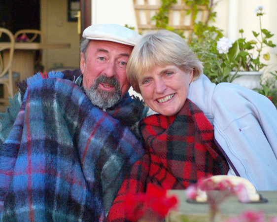 Keith and Carmel's sister, Patricia, enjoying the tropical weather at a Brambles BBQ. Keith then disappeared for a week to Ballymaloe Cookery School.