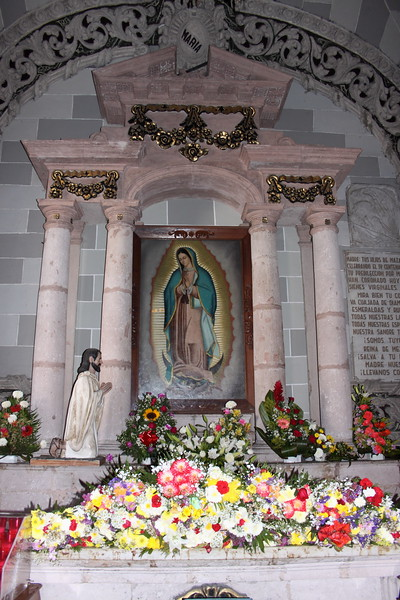....Compared to how many flowers were placed at Mary's feet...