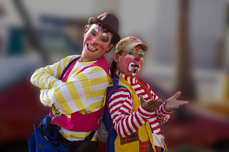 Some clowns just happened by and let me photograph them...