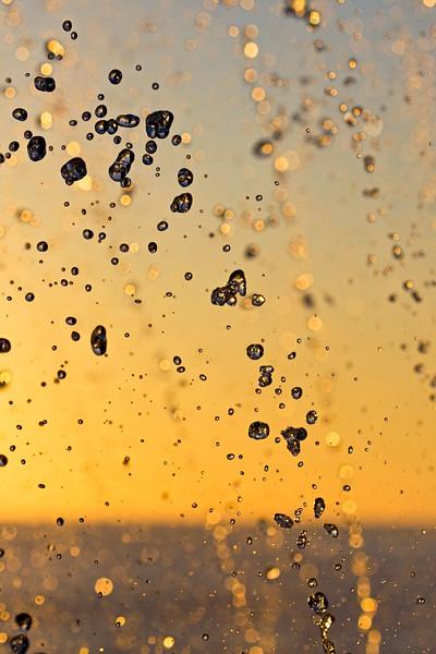 Sunset bubbles