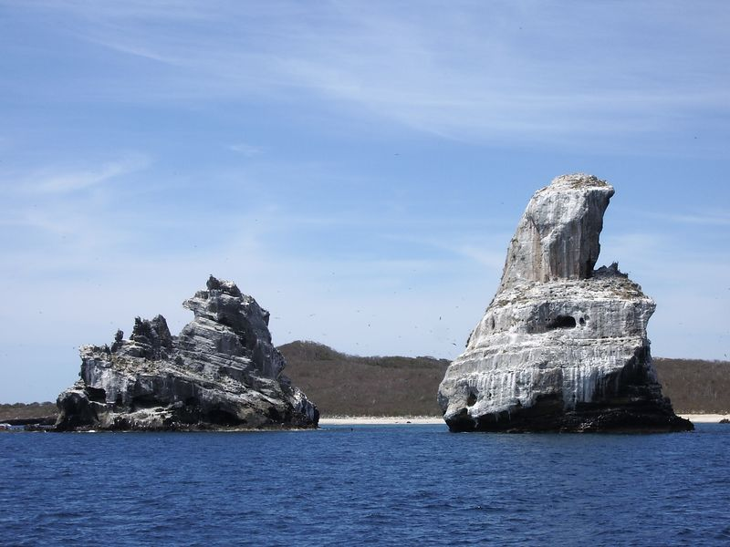 Two islands off of Isla Isabella