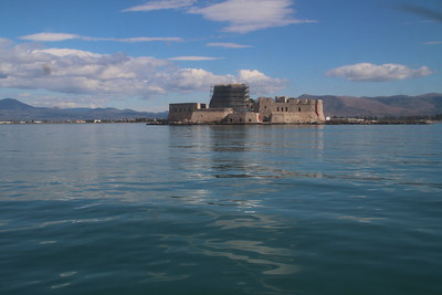 Nafplion harbor on the way to Corinth