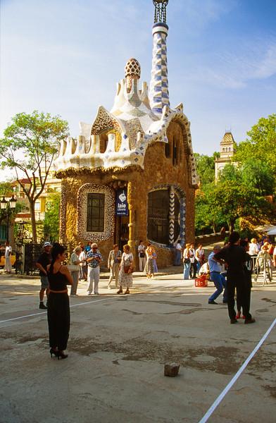 Gaudi architecture in Barcelona.