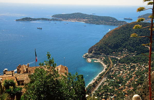 View from Eze toward Nice with Celebrity Millenium in the distance.