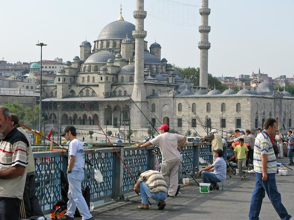 Istanbul - Fishing on Gallata Bridge