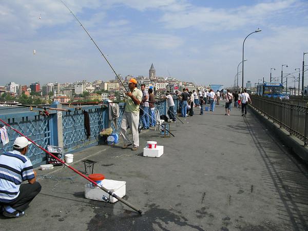 Fishermen at Gallata Bridge