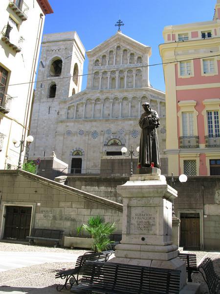 Sardinia - old Church with new facade.
